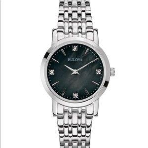 Women's Bulova Diamond Stainless Steel Watch